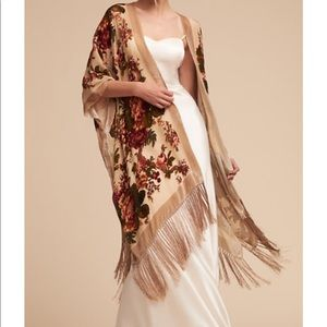 Anthropologie BHLDN Roberts Burnout Velvet Wrap
